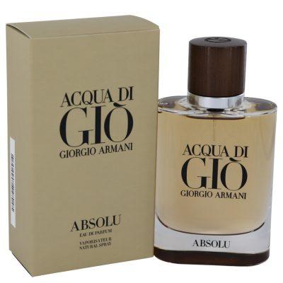 Acqua Di Gio Absolu Cologne by Giorgio Armani Eau De Parfum Spray 2.5 fl. oz. (75 ml)